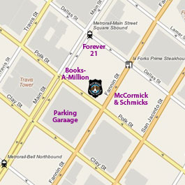 Map of Pup Squad at the Houston Pavilions